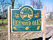 Richmond Oaks Entrance Sign.